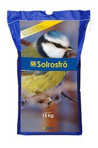 Solrosfrön i 5 kg och 15 kg förpackning finns på Tungelstaboden