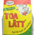 TOA-LÄTT en papperspellets i 20 liters förpackning till kattlådan och smådjur