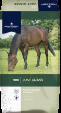 JUST GRASS köper du på Tungelstaboden. Helt ny produkt för butiken. Ett välsmakande hö i liten förpackning