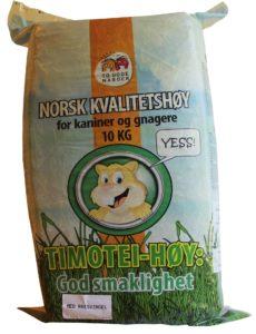 Kvalitetshö för kaniner och andra gnagare, 10 kg hårdpressat i bal