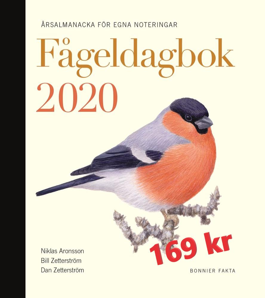 Fågeldagbok 2020 med pris