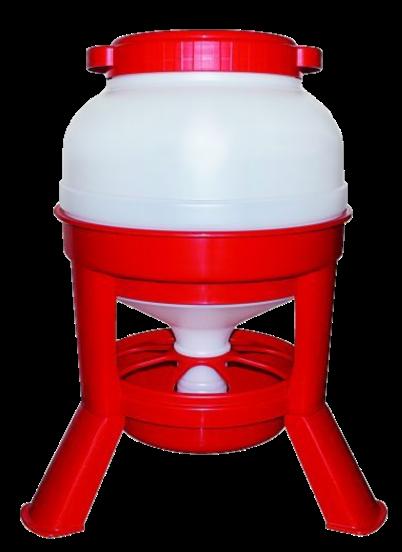 Foderautomat Röd Plast 20 liter